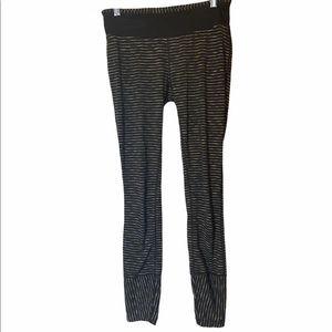 Prana Black Leggings Green Stripes S